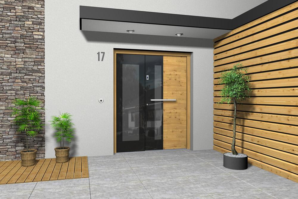 Haustüren Holz/Alu